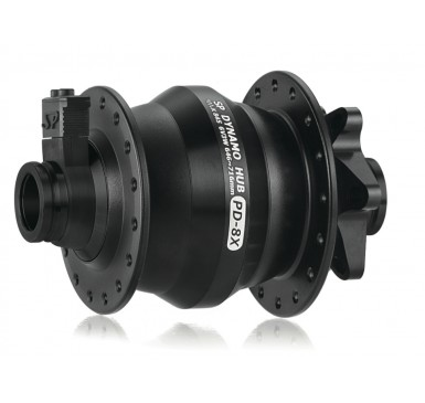 "SP hub dynamo (dynohub) PD/L-8X (for QR15 and QR12 disc-brake 700c/26"" wheels)"